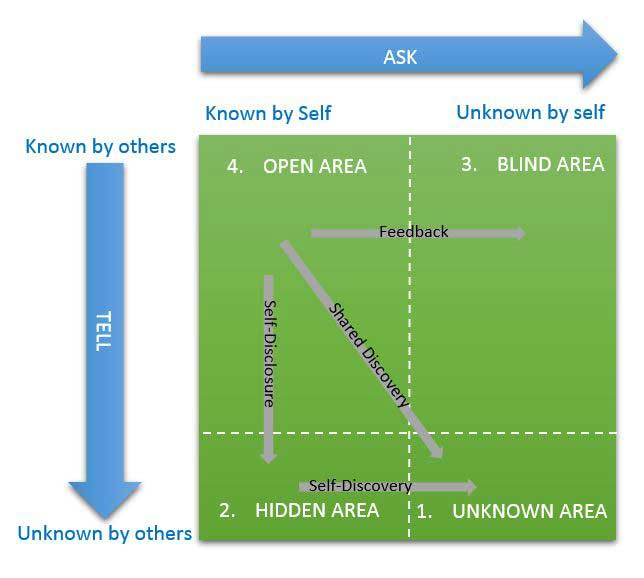 johari window model This chapter describes the johari window model that demonstrates the inter-dependencies between how people perceive themselves.